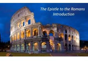 Romans Chapter Slides.Intro