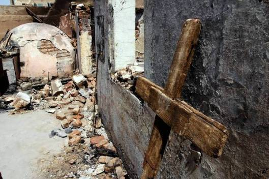 Damaged church in Egypt