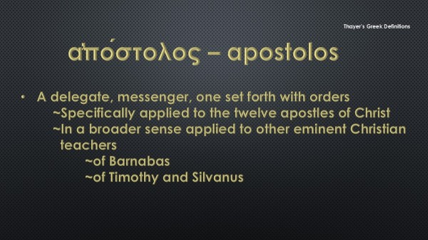 Apostle - Thayers Greek Definitions