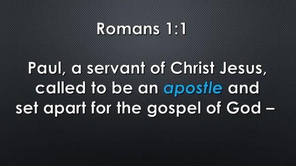 Romans 1.1 apostle SE