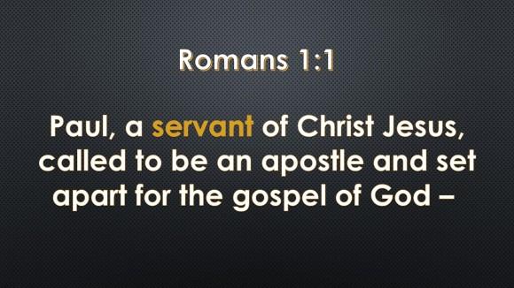 Romans 1.1 SE
