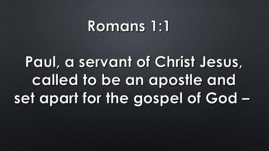 Romans 1.1